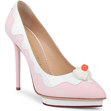 CHARLOTTE OLYMPIA Debonaire sundae court shoes (Pink