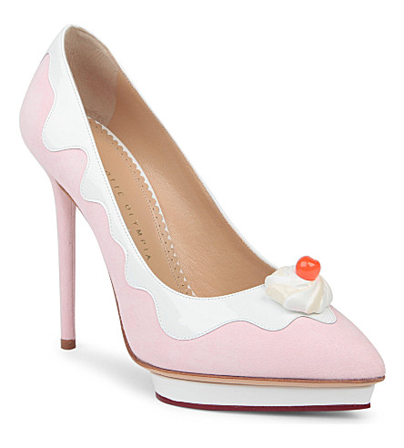 CHARLOTTE OLYMPIA Debonaire sundae court shoes (Pink
