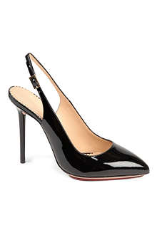 CHARLOTTE OLYMPIA Monroe patent leather slingback courts