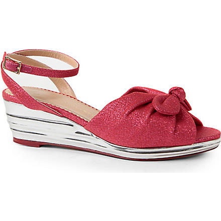 CHARLOTTE OLYMPIA Alexa metallic wedge sandals (Pink