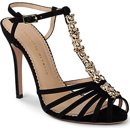 CHARLOTTE OLYMPIA Gummi bear heeled sandals (Black