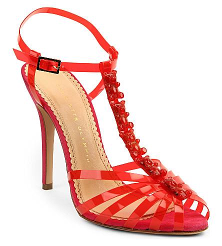 CHARLOTTE OLYMPIA Gummi Bear perspex sandals (Pink