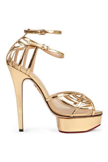 CHARLOTTE OLYMPIA Octavia leather platform sandals