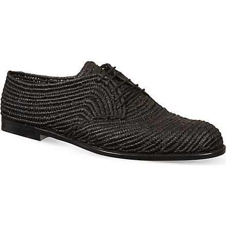 BOTTEGA VENETA Nero Straw brogues (Black