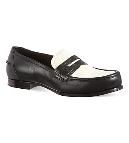BOTTEGA VENETA Two-tone loafers (Blk/beige