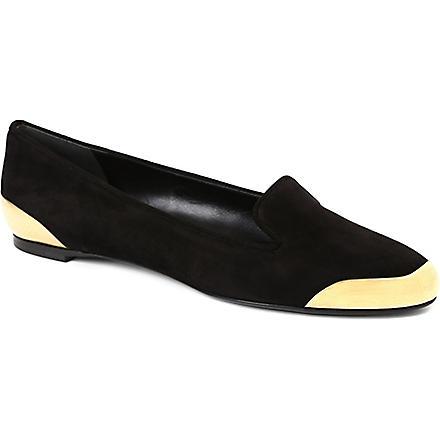 ALEXANDER MCQUEEN Hardware suede slippers (Black