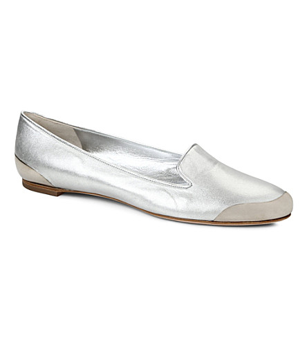 ALEXANDER MCQUEEN Luton leather pumps (Silver