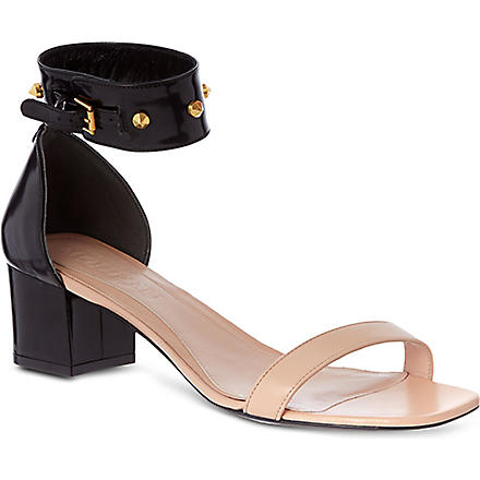 ALEXANDER MCQUEEN Block heel sandals (Blk/beige