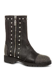 ALEXANDER MCQUEEN Studded leather biker boots