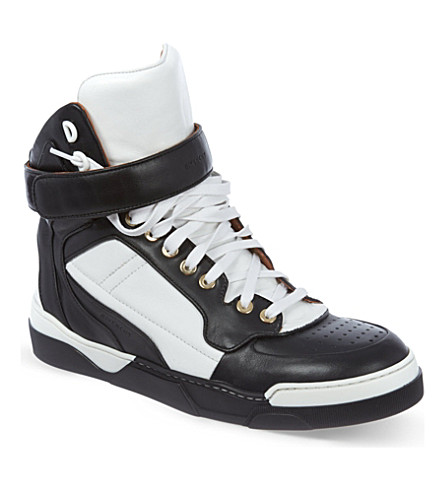 GIVENCHY Bran leather high tops (Blk/white