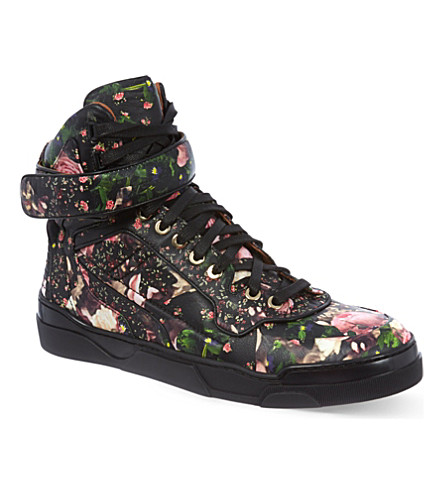 GIVENCHY Bran leather high tops (Pink