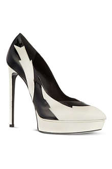 SAINT LAURENT Two-tone lightening 105 pumps