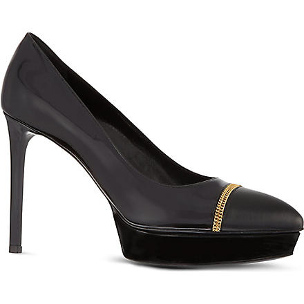 SAINT LAURENT Chain toe-cap courts (Black