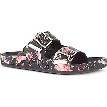 GIVENCHY Tyrion floral camo sandals (Blk/other