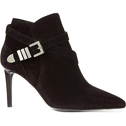 SAINT LAURENT Buckle bootie 80 ankle boots (Black