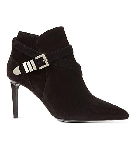 SAINT LAURENT Buckle bootie 80 ankle boots (Black