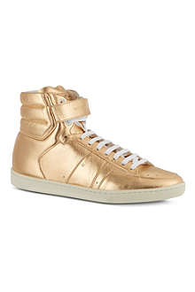 SAINT LAURENT Metallic high top