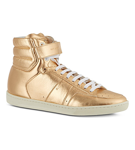 SAINT LAURENT Metallic high top (Silver