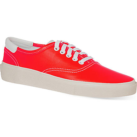 SAINT LAURENT Flat skater shoes (Orange