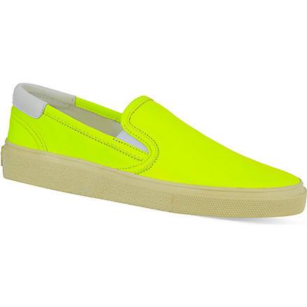 SAINT LAURENT Fluorescent skater shoes (Yellow