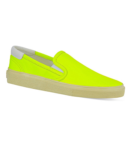 SAINT LAURENT Fluorescent skater shoes (Yellow