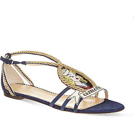 CHARLOTTE OLYMPIA Ahoy sailor sandals (Navy