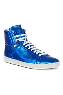 SAINT LAURENT Metallic high tops