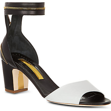 RUPERT SANDERSON Nizam leather sandals (Blk/white