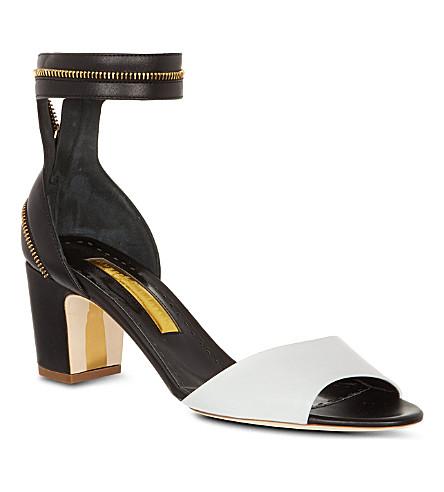 RUPERT SANDERSON Nizam leather sandals (Blk/white