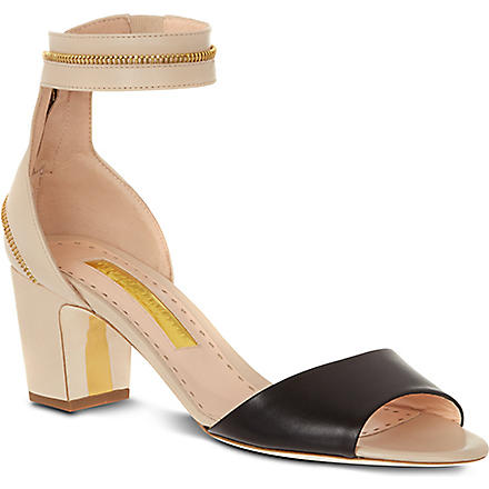 RUPERT SANDERSON Nizam leather sandals (Blk/beige