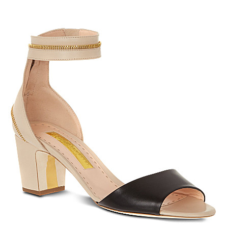 NOVESTA Nizam leather sandals (Blk/beige