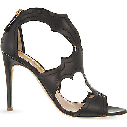 RUPERT SANDERSON Estelle leather sandals (Black