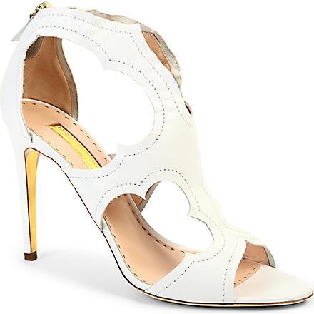 RUPERT SANDERSON Estelle leather sandals (White