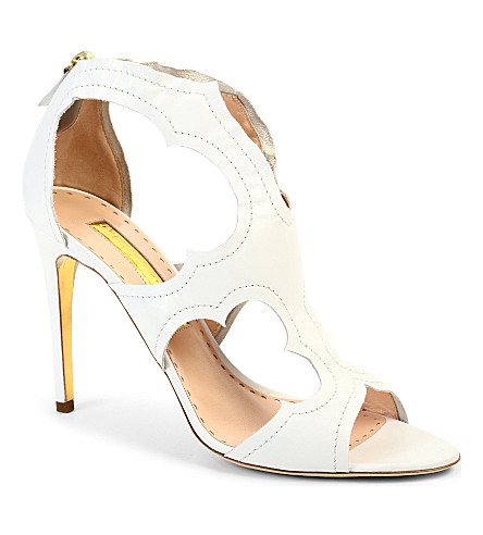 RUPERT SANDERSON Estelle leather sandals (White