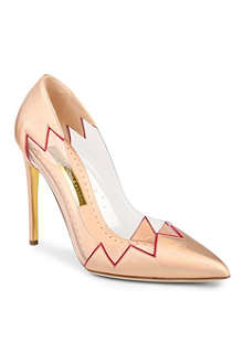 RUPERT SANDERSON Syra pointed leather court shoes