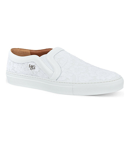 GIVENCHY Diamanté skate shoes (White