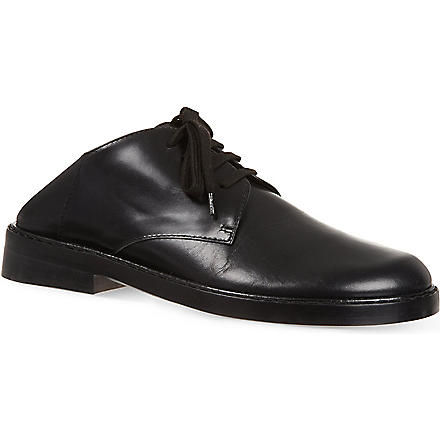ANN DEMEULEMEESTER Brussels leather Oxford shoes (Black