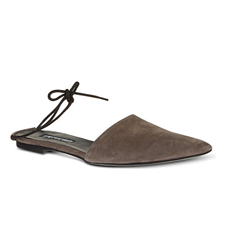 ANN DEMEULEMEESTER Ostend slippers (Grey