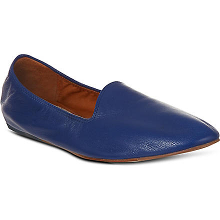 LANVIN Soft leather slippers (Blue