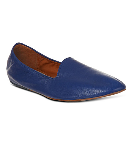 KURT GEIGER Soft leather slippers (Blue
