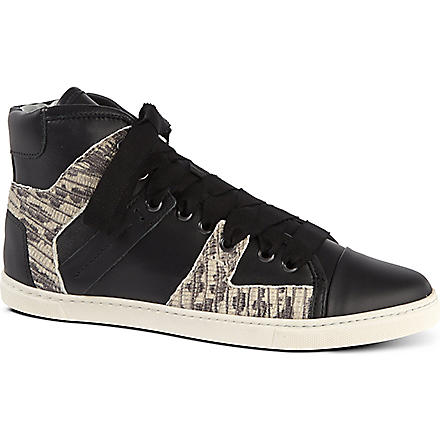 LANVIN High top trainers (Blk/white
