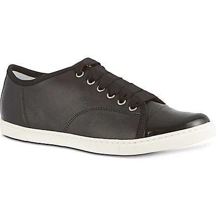 LANVIN Low top leather trainers (Black