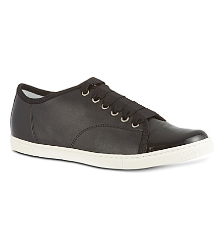 KURT GEIGER Low top leather trainers (Black
