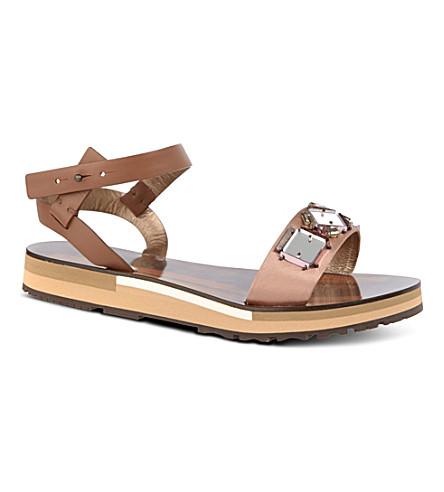 KURT GEIGER Flat Wedge sandals (Nude