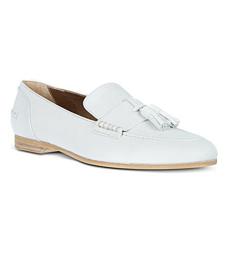 LANVIN Flat almond loafers (White