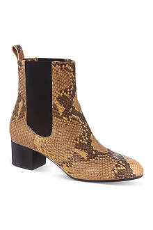 DRIES VAN NOTEN Nico snakeskin print heeled ankle boots