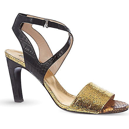 DRIES VAN NOTEN Billy croc sandals (Gold