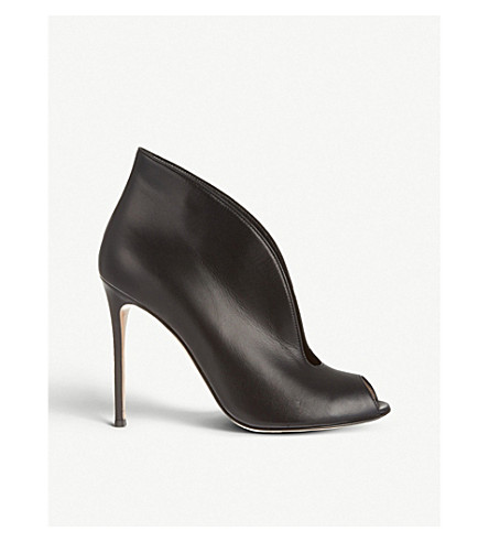 GIANVITO ROSSI Lombardy leather heeled ankle boots (Black