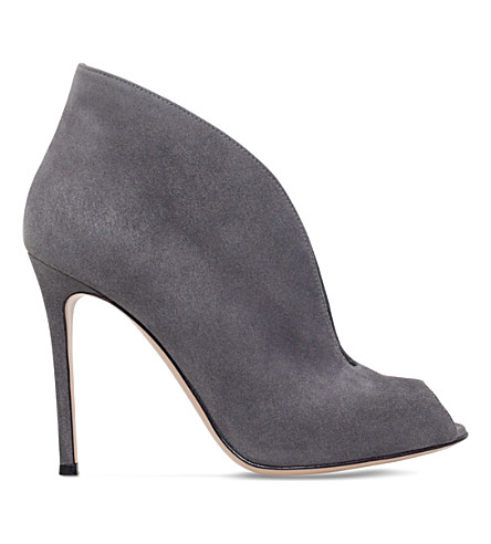 GIANVITO ROSSI Vamp 105 suede ankle boots (Grey