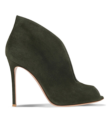 GIANVITO ROSSI Vamp 105 suede ankle boots (Khaki